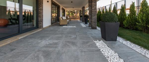 carrelage gris dalles terrasse