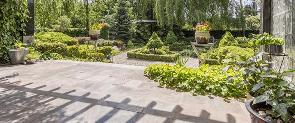 jardin carrelage exterieur