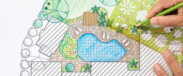 plan dessin paysagiste