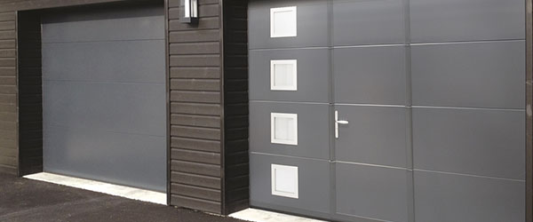porte de garage portillon noir design