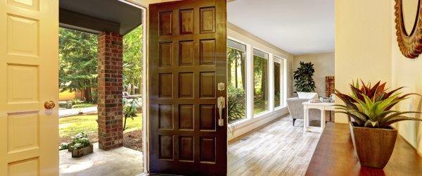 porte entrée bois ancien
